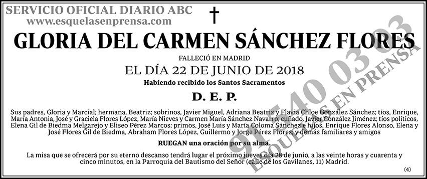 Gloria del Carmen Sánchez Flores